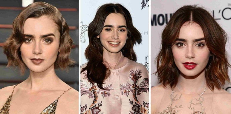 different lengths of hair